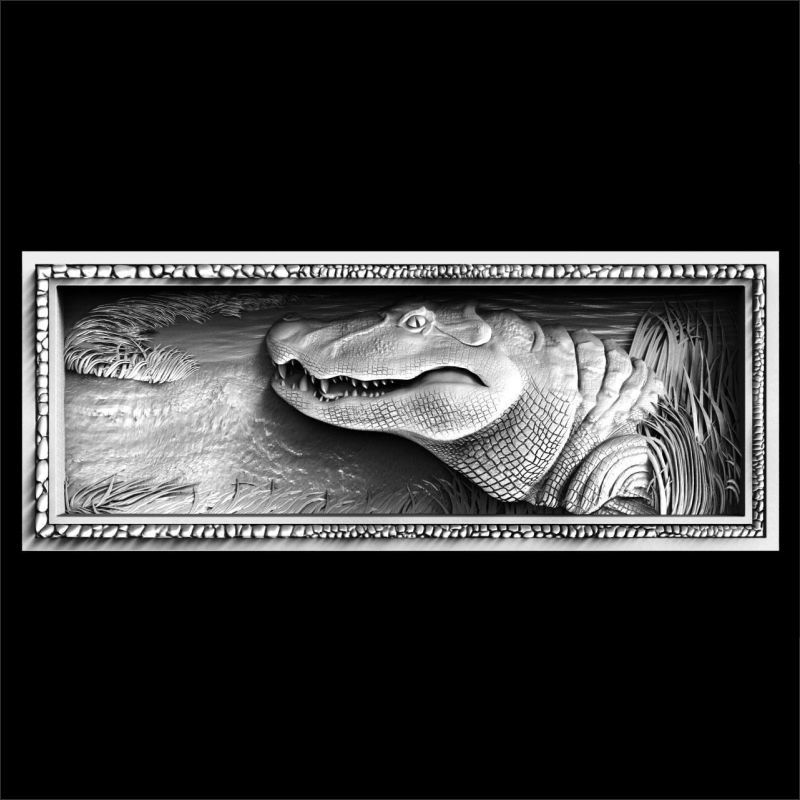 Aligator 3D Model STL relief for cnc  format Furniture mother of god intercession of the theotokos 3d model relief figure stl format religion 3d model relief in stl file format