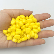 100pcs/lot Yellow Fake Soft Lures Corn Fishing Lure silicone bait 1cm carp fishing Bait fishing gear Free Shipping YE-266
