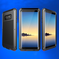 Shockproof Armor Case For Samsung Galaxy Note 8 5 4 Anti Shock Aluminum Metal Protection Cover