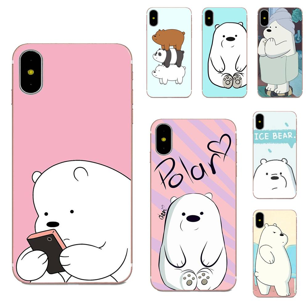 For <font><b>Galaxy</b></font> Alpha Core Note 2 3 4 S2 A10 A20 A20E A30 A40 A50 A60 A70 M10 <font><b>M20</b></font> M30 Soft TPU Mobile Pouch We Bare Ice Bear Panda image