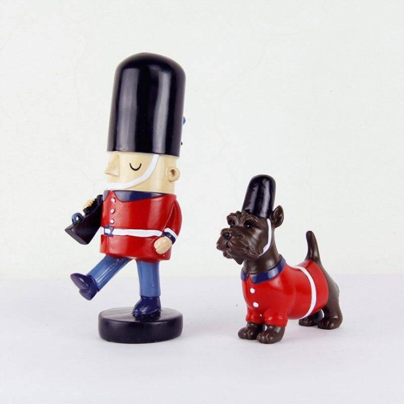 2 pièces/ensemble casse-noisette marionnette décoration de la maison créative bureau décoration bois fait noël ornements dessin noix soldats