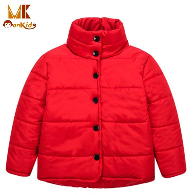 Monkids Chaqueta de Las Muchachas Niños Ropa de Invierno de Cuello Alto de Algodón Chaquetas para Niñas Moda Abrigos Niños Prendas de abrigo