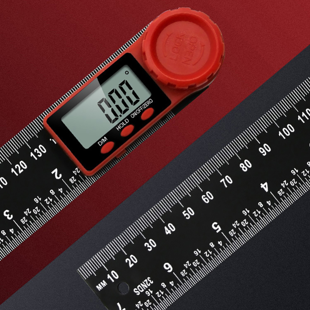 200mm Digital Angle Ruler Scale Electronic Goniometer Protractor Inclinometer Electron Goniometer Protractor Angle Detector
