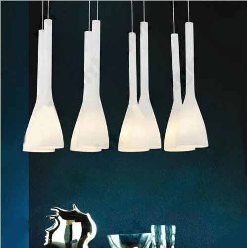 ФОТО Modern chandelier Cream white glass dining room pendant lamp Home decoration	hanging light E27 110V 240V Free shipping