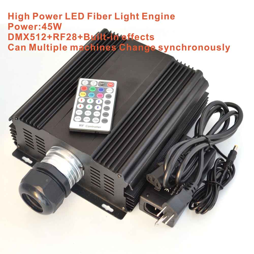 45W LED dmx optical fiber engine,AC85-260V input;dmx512 compatible RF RGB high power light ...
