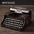 Vintage antigo máquina de escrever decoração para casa artesanato modelo adereços decoração suave