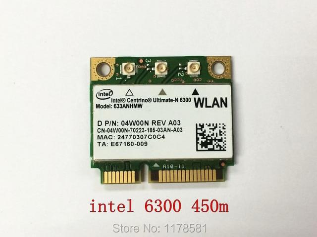 Intel Centrino Ultimate-N 6300 633ANHMW Dual Band 450Mbp Wireless Half Mini PCI-E