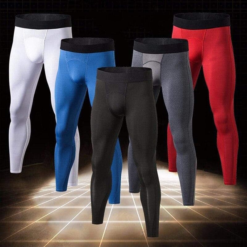 Herzhaft Yel Neue Männer Leggings Schnell Trocknend Fitness Engen Sport Hosen Gym Kleidung Laufhose Männer Jogging Compression Sportswear