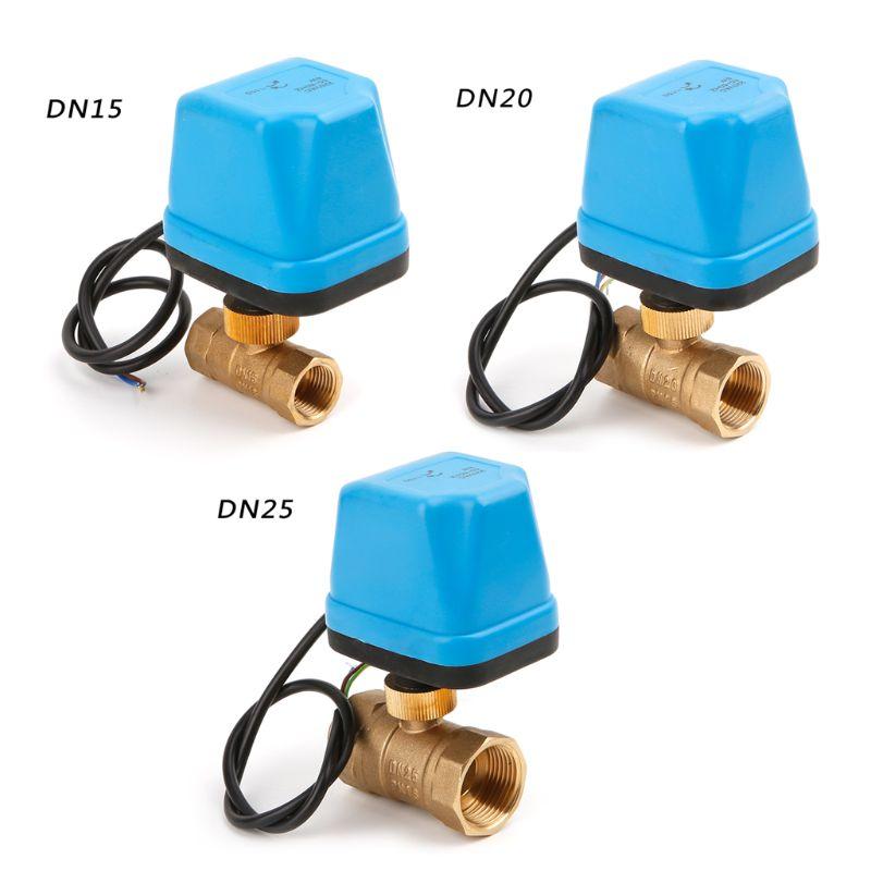 Dn15 Dn20 Dn25 Ac220v Elektrische Kugel Ventil Messing Motorisierte Ball Ventil Elektrische Zwei-weg Ventile Wasserdicht Sanitär StoßFest Und Antimagnetisch