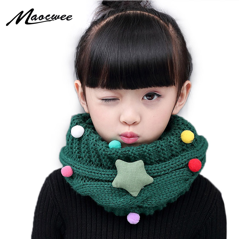 New Girl Winter Collar Ring Scarf for Children Knitted Collar With Children s Scarves Neckerchief Clothing