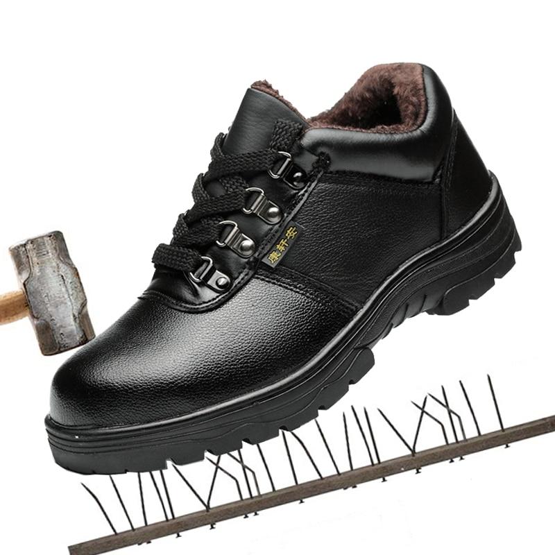 Hombre Algodón Invierno Seguridad Calientes Punción Anti Protección Zapatos Break De pRxw8nqz