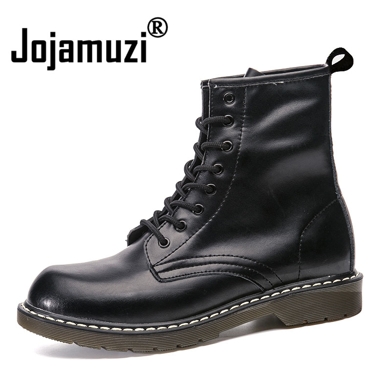 British Fashion Men Cowboy Motorcycle Dress cow Leather Tooling Shoes Platform Spring Autumn Ankle Martins Boot