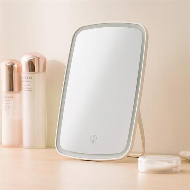 Original xiaomi Mijia Intelligent portable makeup mirror desktop led light portable folding light mirror dormitory desktop 3
