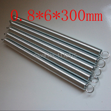 0.8X6mm metal 304 321 316 0.8*6*300mm stainless steel torsion extension tension spring springs hardware