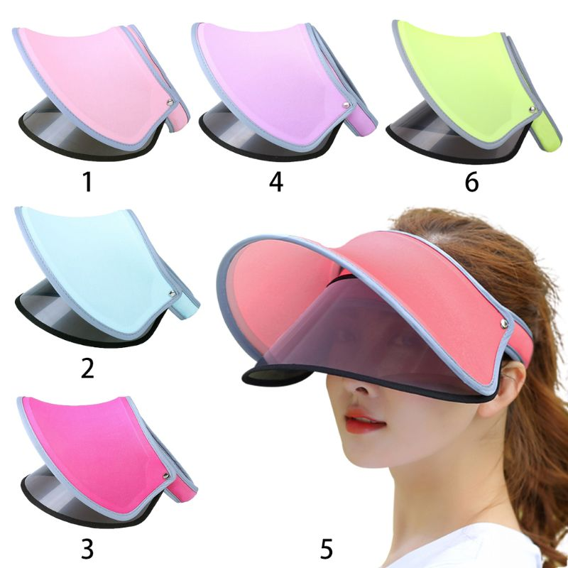467c56067 US $2.42 21% OFF|Women Summer Ice Silk Open Top Double Visor Sun Hat Clip  On Adjustable Wide Brim Anti UV Cycling Outdoor Sports Beach Cap-in Women's  ...