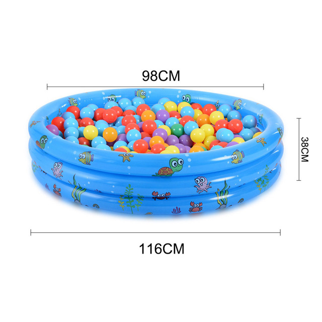 Adorable Children Inflatable Swimming Pool – Blue Medium