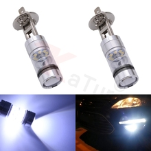2pcs H1 100W High Power Headlight LED Light 20 SMD 1800LM Fog Driving LED Driving Running