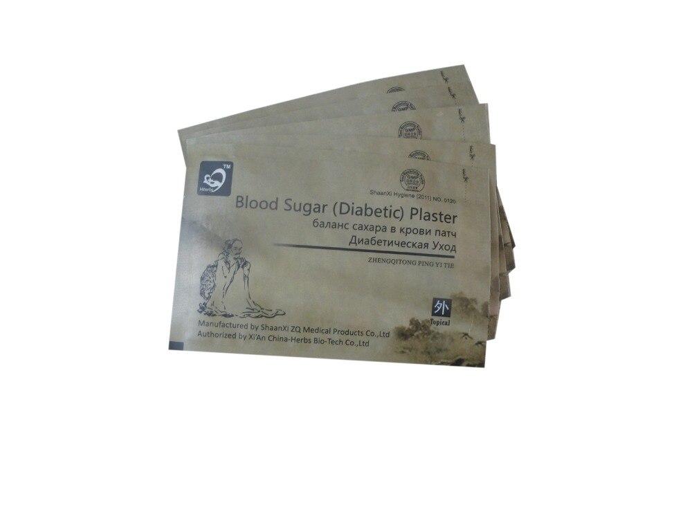 CE 50 pcs/Lot diabète à base de plantes diabète guérir la glycémie inférieure traitement de la glycémie patch diabétique plâtre diabétique langue russe
