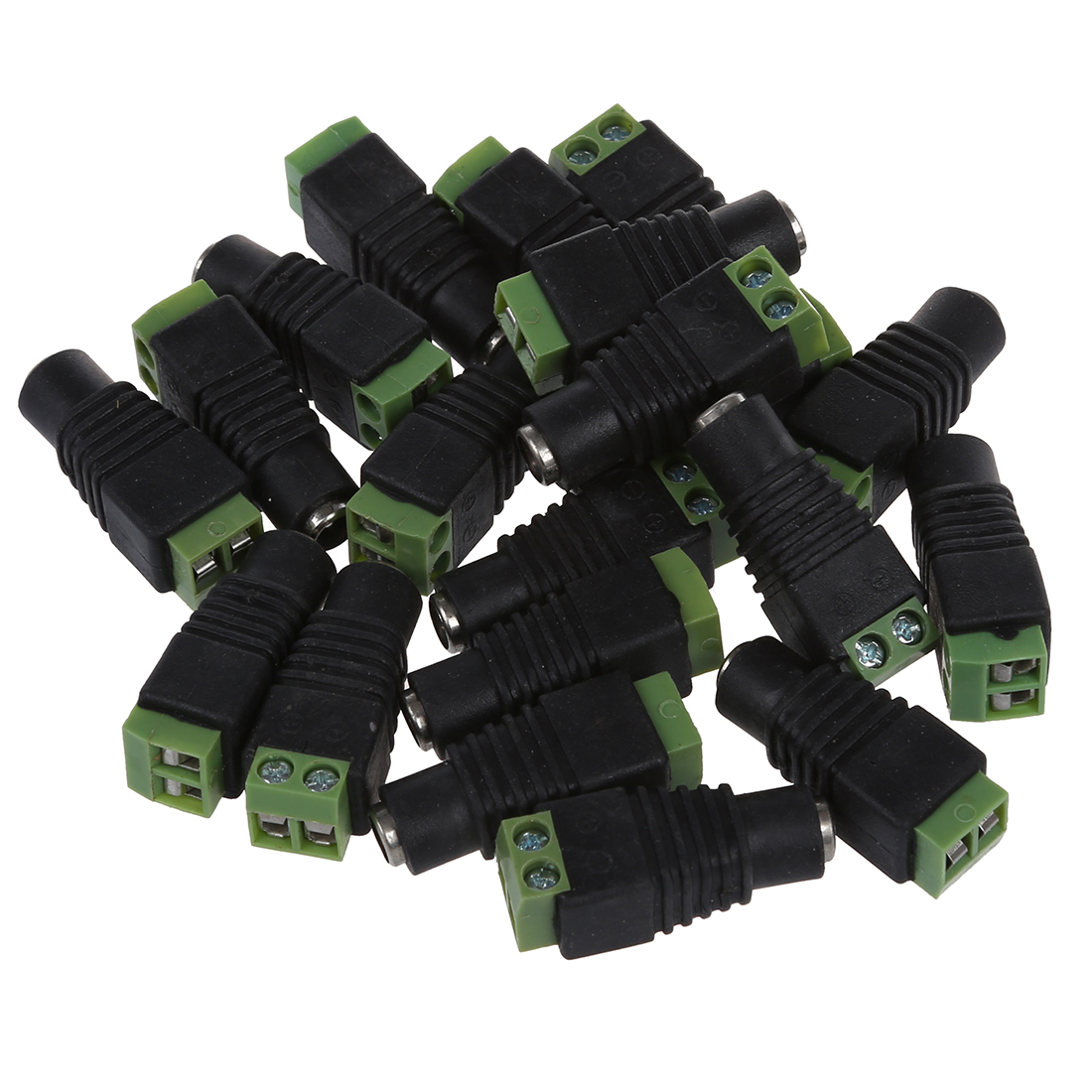 20pcs CCTV Camera 5.5 x 2.1mm DC Power Cable Female Plug Connector Adapter Jack