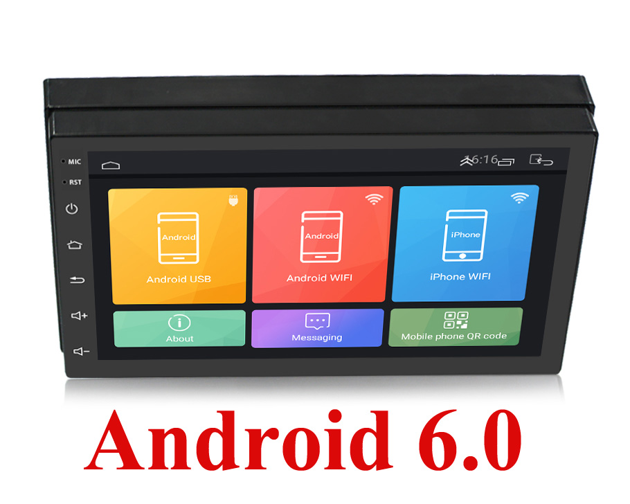"Auto Radio 2 Din Android 6.0 GPS Navigation Car Radio Car Stereo 7""1024*600 Universal Wifi Bluetooth USB Audio Player"