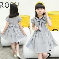Teenage Dresses for Girls Summer Stripe Sundress Children Off Shoulder Clothes Kids Bow Dress 4 6 8 9 10 12 14 Years Girls Dress