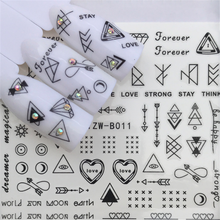 1pcs Water Nail Stickers On Nails Inscriptions Manicure Decoracion 3d Sliders For Set Lettering Temporary Tattoos