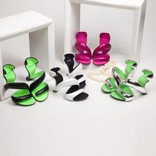EdBeauty Women Sandals Summer New Fashion Bottomless Snake High Heels Platform Sandals Shoes Woman Wedding Shoes Women Pumps