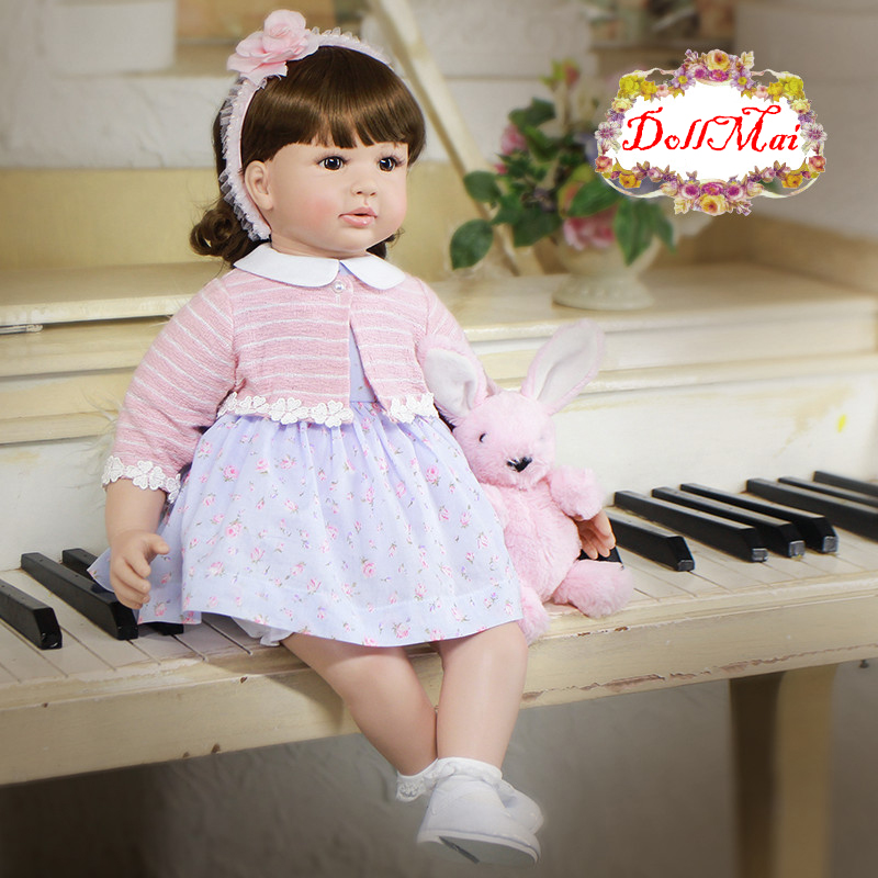 Adorable reborn girl dolls 2460cm silicone reborn baby dolls toys high quality child gift toy dolls reborn meinia bonecas Adorable reborn girl dolls 2460cm silicone reborn baby dolls toys high quality child gift toy dolls reborn meinia bonecas