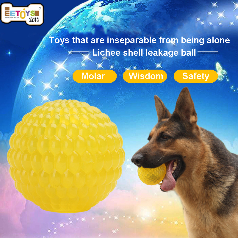 3 Sizes Educational Interactive Pet Dog Toys Rubber Ball Puppy Chew Toys Dog Treats Dispenser Food Leakage Ball Bite-Resistant