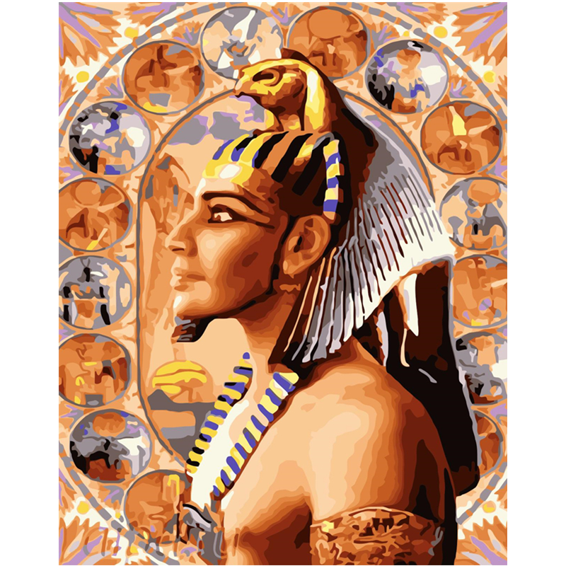 Handsome Pharaoh Hand Made Paint High Quality Canvas Beautiful Painting By Numbers Surprise Gift Great Accomplishment