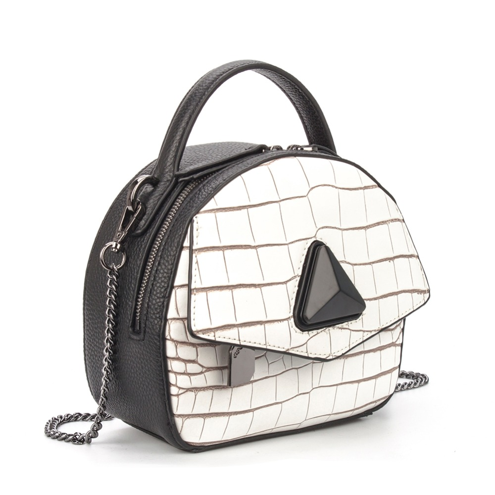 Yatheen Womens Genuine Leather Plaid Shoulder Bag