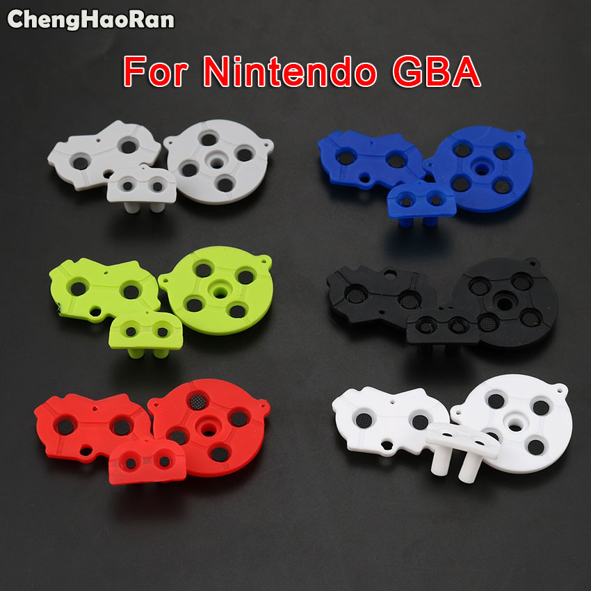 ChengHaoRan Colorful For Nintendo GameBoy Advance Silicone Rubber Pad Button Conductive Contacts A B Select Start D Pad For GBA