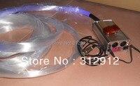 PS kit de fibra óptica; 200 fibras x 1 00mm x 4 metro de comprimento com um 9 W DMX RF RGB levou motor de luz juntos