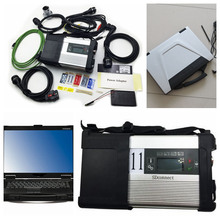 On Sale MB Star C5 SD Conenct with laptop cf-52 toughbook diagnostic PC + mb star c5 newest software V2017.03 hdd for mb sd c5(China (Mainland))