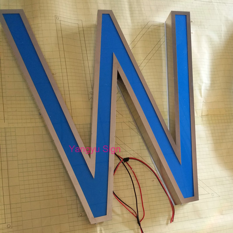 3D Led acrylic office wall signs letters image