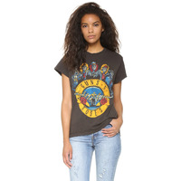 Guns N Roses Printed Long Sleeve T Shirts For Womens Fashion Graphic T Shirts For Ladies