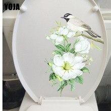 YOJA 17.5X23.4CM Modern Art Living Room Home Decor Wall Decal Toilet Sticker Birds on Flower Branches T3-1170