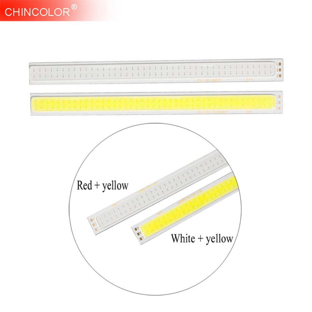 12V COB LED Lamp Light Bulb 5W DIY High Power Lights Strips Lamps Source 400ma Red & yellow / white & yellow for car Boad JQ