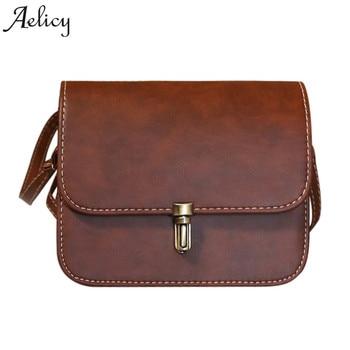 f3aa863a4b7e Aelicy famoso de las mujeres de cuero de señora bolso diseño bolso de  hombro mensajero bolso Crossbody bolsa