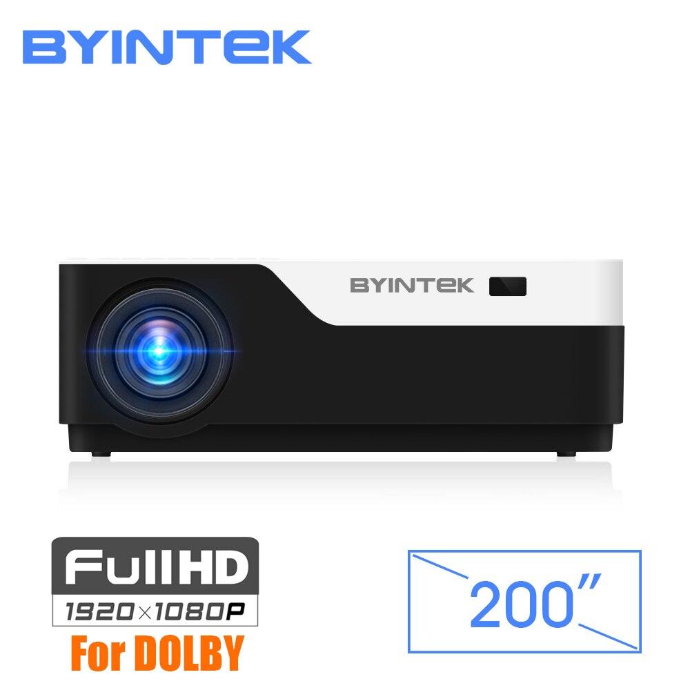 BYINTEK LUNE K11 200 pouces 1920x1080 1080 P led full hd vidéo projecteur avec HDMI USB Pour Jeu Film Cinéma Maison théâtre