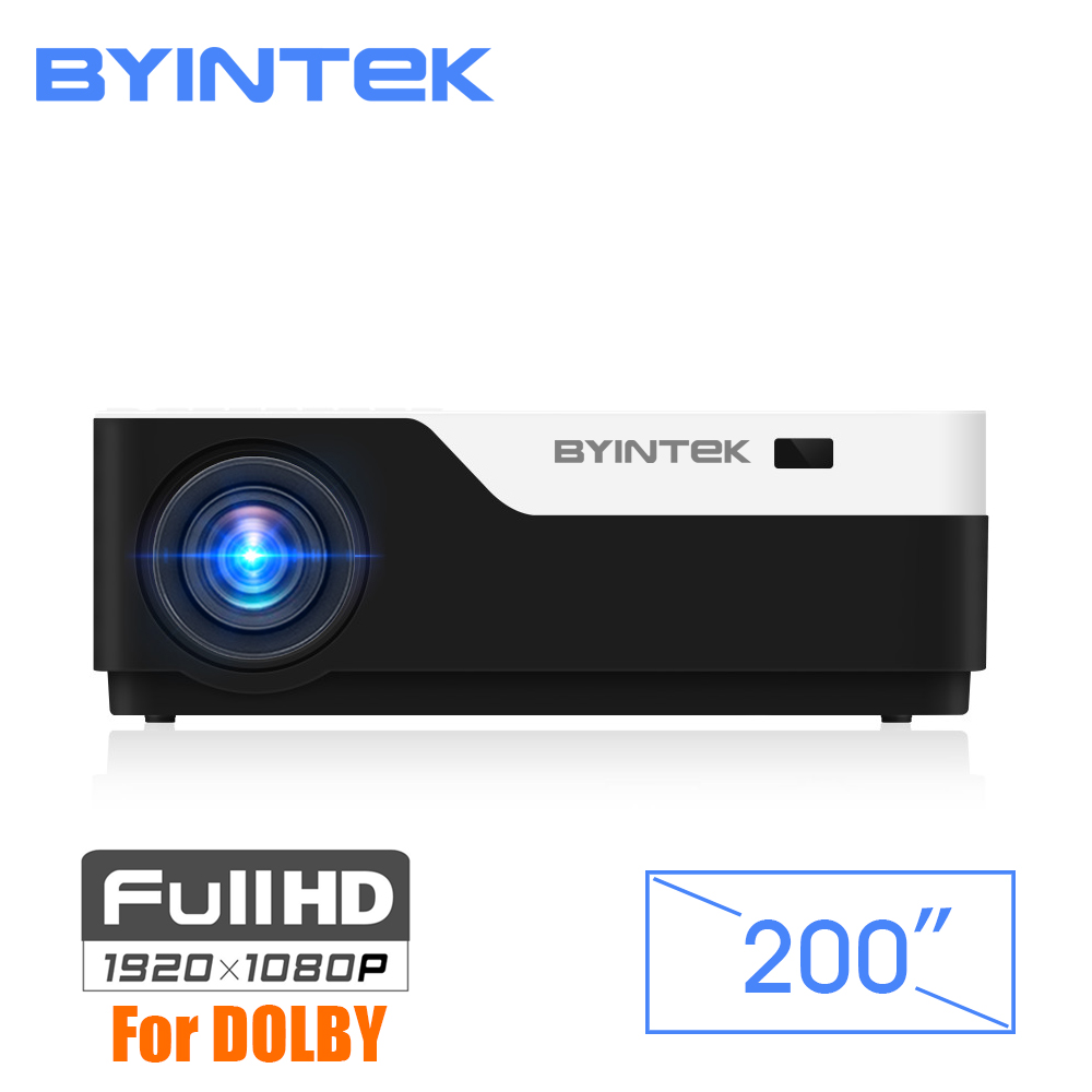 BYINTEK MOON K11 200 дюймов 1920x1080 1080 P FULL HD светодиодный видеопроектор с HDMI USB для игры кино Кино дома Театр