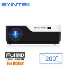 BYINTEK MOON K11 200inch 1920×1080 1080P FULL HD LED Video Projector with HDMI USB For Game Movie Cinema Home Theater