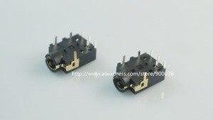 Image 2 - 1000 szt. Gniazdo telefoniczne 3.5mm 7 pinowe gniazdo Audio Stereo na 4 bieguny wtyk Audio przez otwór kątowy 7 styków 4 przewody