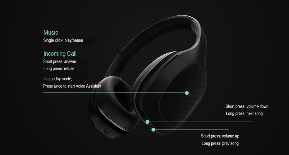 Original Xiaomi Mi Bluetooth Wireless Headphones 4.1 Version Bluetooth Earphone aptX 40mm Dynamic PU Headset For Mobile Phone-22