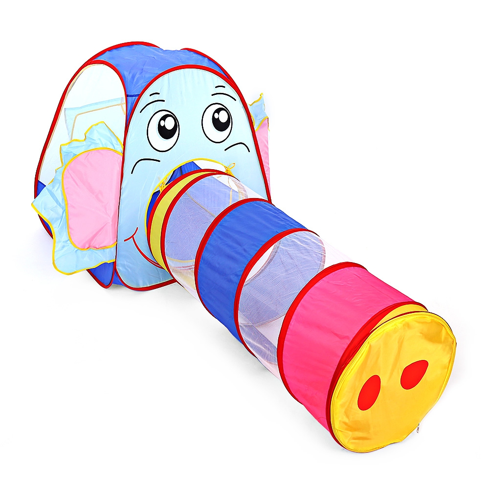 Portable Kids Toy Tent Foldable Outdoor Indoor Cartoon Elephant Tent Children Playhouse Play Game House Cubby Hut Sport Tents mushroom kids play hut pink blue children toy tent baby adventure game room indoor outdoor playhouse
