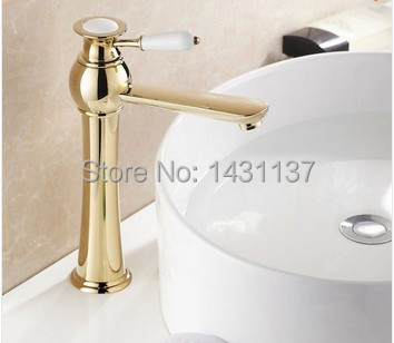 new arrival gold finish Brass material Single lever hot and cold bathroom sink faucet basin mixer taps