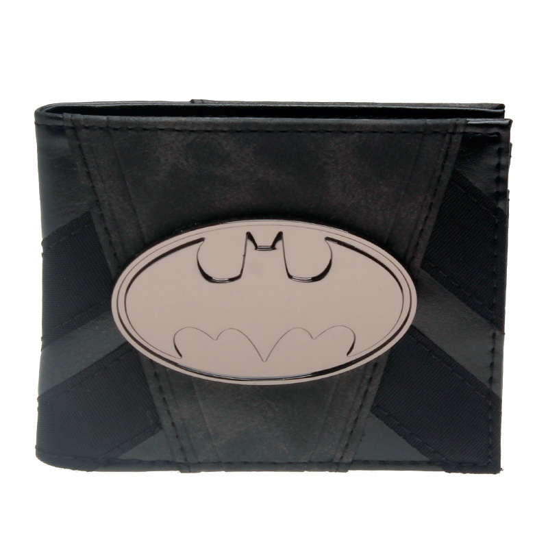 Batman Wallet Metal Badge Black Bi-Fold  Men Wallet Women Purse  DFT-3090