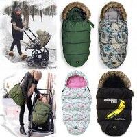 Bebek arabası sıcak kış için Uyku Tulumu Yenidoğan Zarf pram tekerlekli Çocuklar için Kalın ayak kapak Bebek arabası footmuff