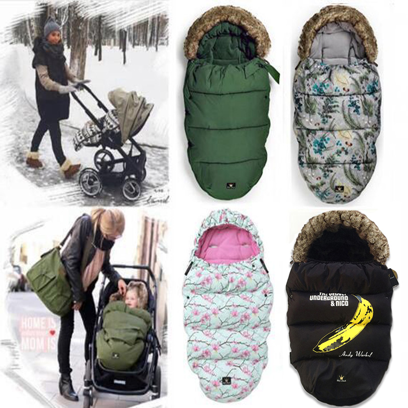 Thick Warm Baby Stroller Sleeping Bag Newborn Foot Cover for Stroller Pushchair