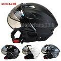 ZEUS Motorcycle Bike Bicycle Open Face Motorcycle Scooter Half Helmet  Visors DOT ECE Jet Pilot Helmet Style